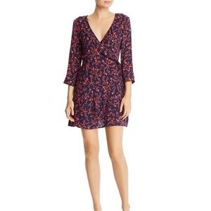 Aqua Micro Floral Wrap Dress (NWT) Size: XS